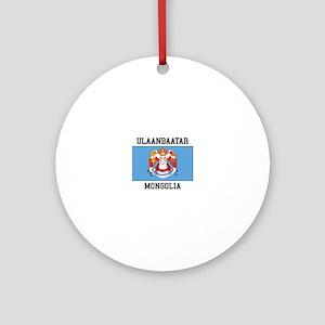 Ulaanbaatar, Mongolia Ornament (Round)
