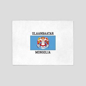 Ulaanbaatar, Mongolia 5'x7'Area Rug