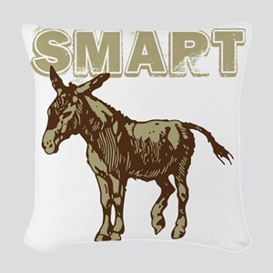 Smart Donkey Woven Throw Pillow