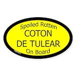 Spoiled Coton de Tulear On Board Oval Sticker