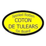 Spoiled Coton de Tulears On Board Oval Sticker
