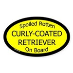 Spoiled Curly-Coated Retriever Oval Sticker