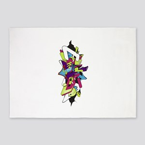 Graffiti king 5'x7'Area Rug