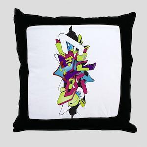 Graffiti king Throw Pillow