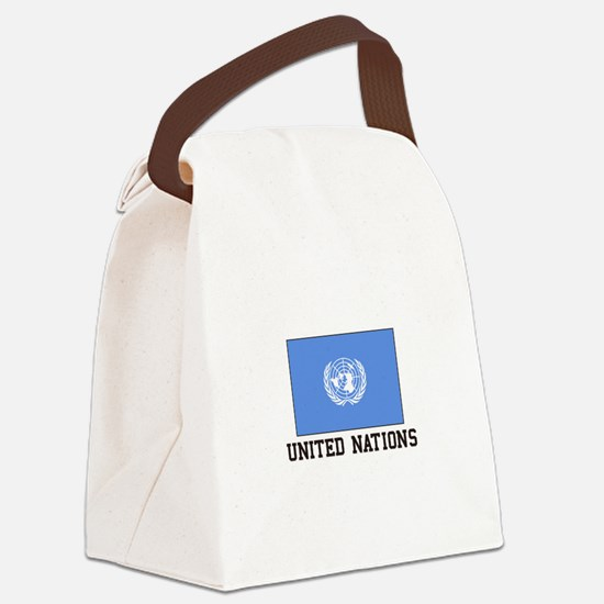 United Nations Canvas Lunch Bag