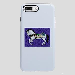 White Carousel Horse on P iPhone 7 Plus Tough Case