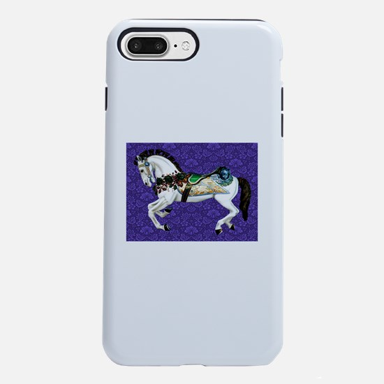 White Carousel Horse on P iPhone 7 Plus Tough Case