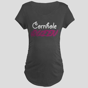 Cornhole Queen Maternity Dark T-Shirt