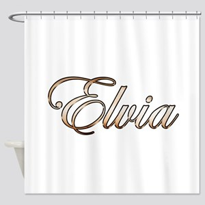 Gold Elvia Shower Curtain