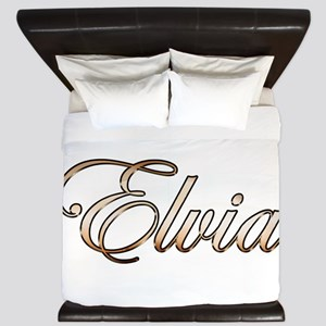 Gold Elvia King Duvet