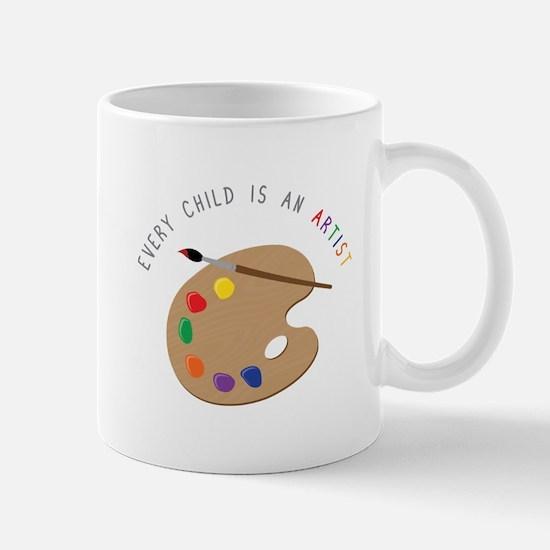 Child Is Artist Mugs