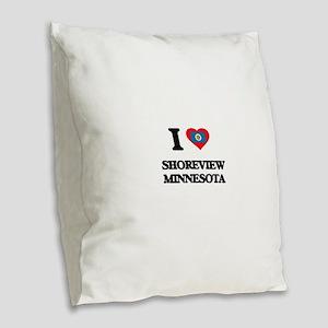 I love Shoreview Minnesota Burlap Throw Pillow
