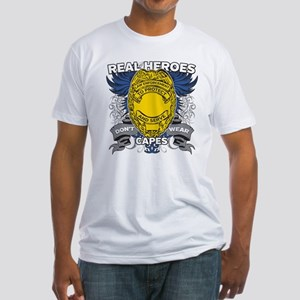 Real Heroes Law Enforcement Fitted T-Shirt
