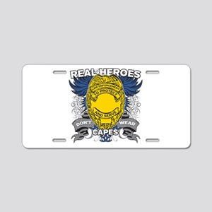 Real Heroes Law Enforcement Aluminum License Plate