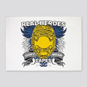 Real Heroes Law Enforcement 5'x7'Area Rug