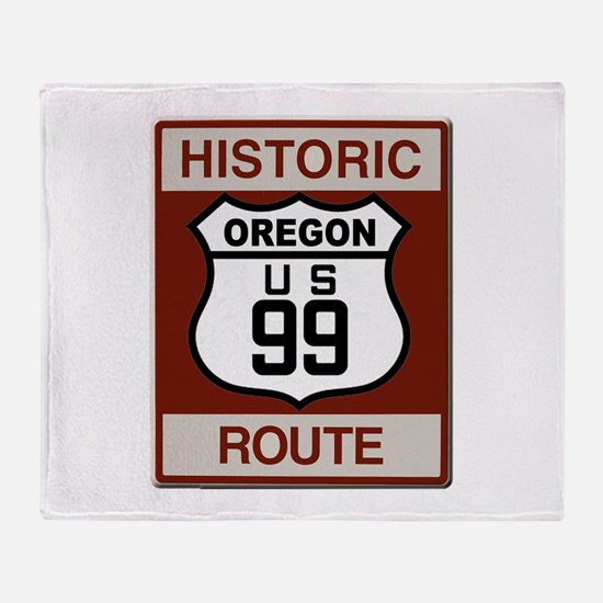 Oregon Highway 99 Throw Blanket