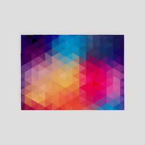 Colorful Modern Mosaic Geometric Pa 5'x7'Area Rug
