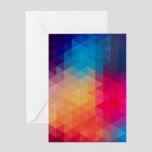 Colorful Modern Mosaic Geometric Pa Greeting Cards