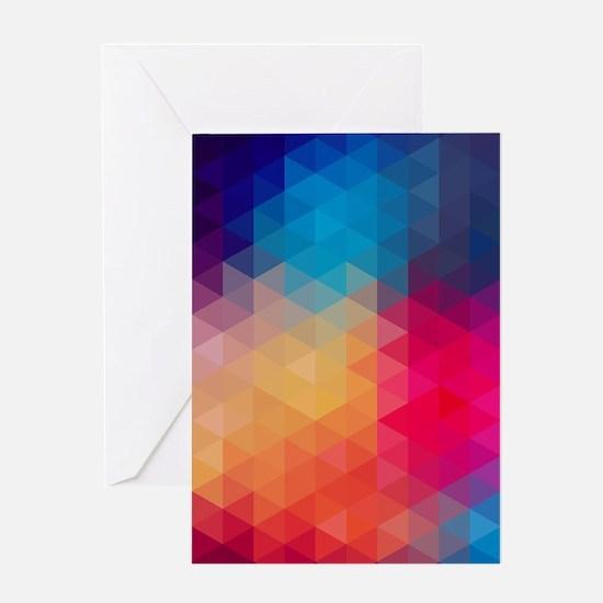 Colorful Modern Mosaic Geometric Pa Greeting Cards