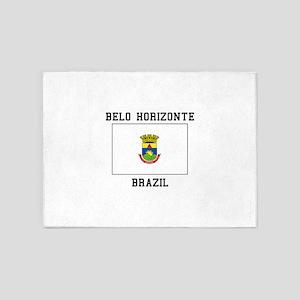 Belo Horizonte, Brazil 5'x7'Area Rug