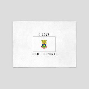 I Love Belo Horizonte 5'x7'Area Rug