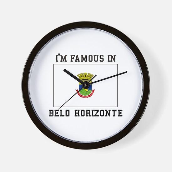 I'M Famous IN Belo Horizonte Wall Clock