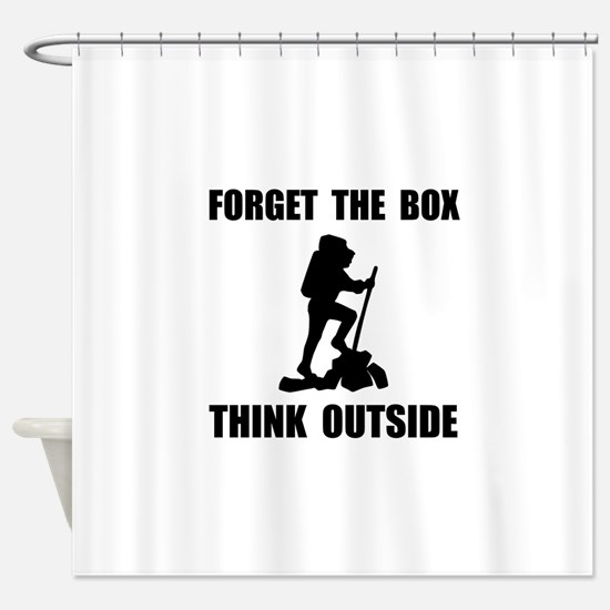 Think Outside Shower Curtain