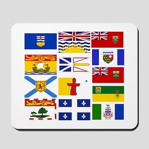 Canadian Provinces Mousepad