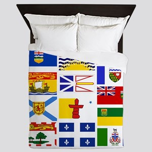 Canadian Provinces Queen Duvet
