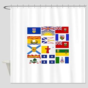 Canadian Provinces Shower Curtain