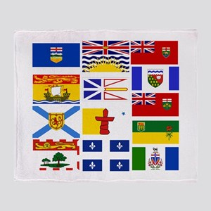 Canadian Provinces Throw Blanket