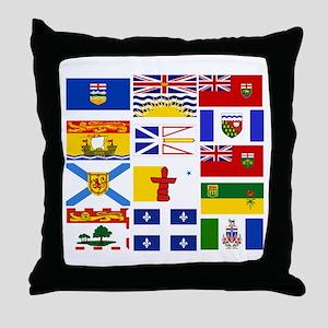 Canadian Provinces Throw Pillow
