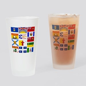 Canadian Provinces Drinking Glass