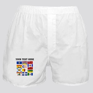 Custom Canadian Provinces Boxer Shorts