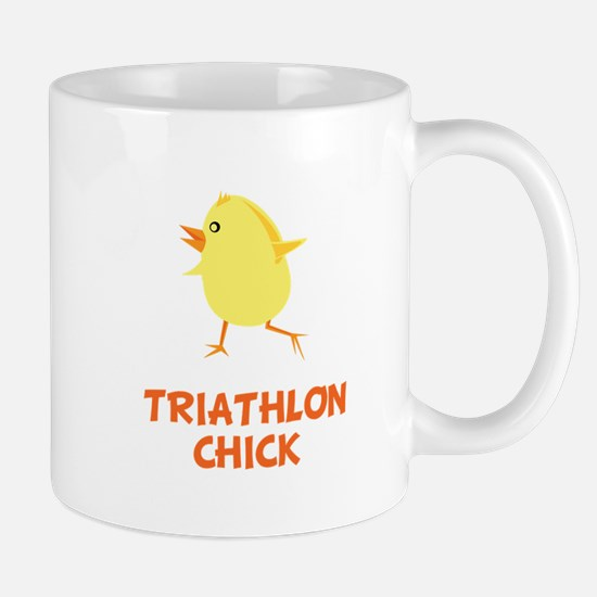 Triathlon Chick Mugs