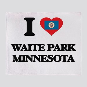I love Waite Park Minnesota Throw Blanket