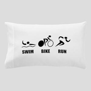 Triathlon Swim Bike Run Pillow Case
