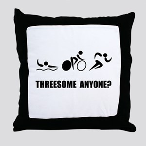 Triathlon Threesome Anyone Throw Pillow