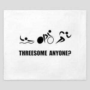 Triathlon Threesome Anyone King Duvet