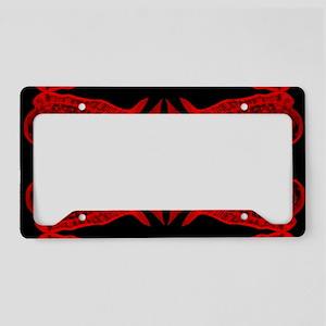 Retro Mahi Mahi Dark Pattern. License Plate Holder