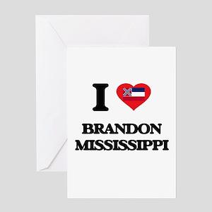 I love Brandon Mississippi Greeting Cards
