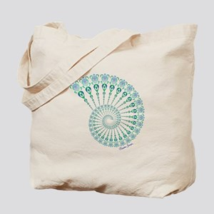 Spiral Tribal Turtle Shell Tote Bag