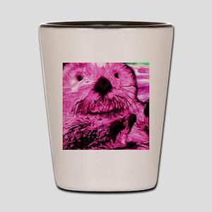 Bright Pink Sea Otter Shot Glass
