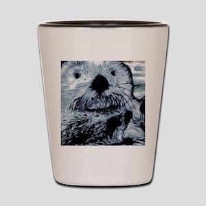 Denim Blue Sea Otter Shot Glass