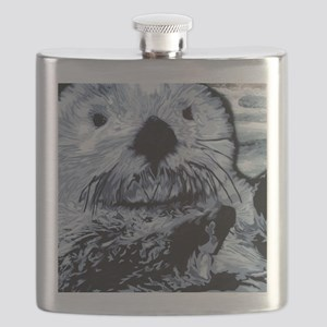 Denim Blue Sea Otter Flask