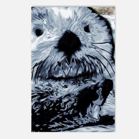 Denim Blue Sea Otter Postcards (Package of 8)