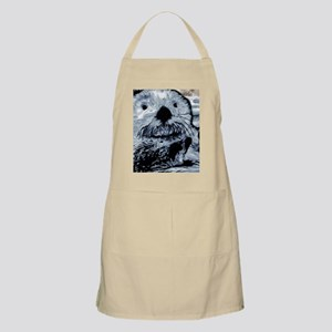 Denim Blue Sea Otter Apron