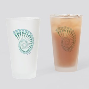 Spiral Tribal Turtle Shell Drinking Glass