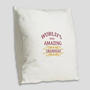 Granddad Burlap Throw Pillow