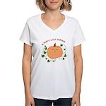 Mommy's Little Pumpkin Women's V-Neck T-Shirt